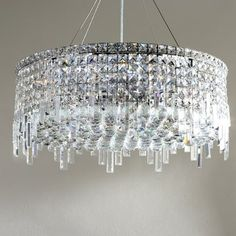 "Willa Arlo Interiors Anjali Modern 12-Light Crystal Chandelier Size: 10.5"" H x 24"" W x 24"" D"