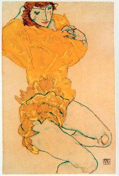 Woman Undressing, Egon Schiele 1914