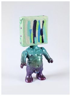 Mini Johnny Paint me Motherfucker customized by Emilio Subirá  (unique art piece)  Poliurethane resin 12cms tall toy sculpture.  Hand painted and barnish by the artist at his studio in Seville, Spain.  Is one of a kind. signed and dated.