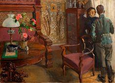 Józef Mehoffer(Polish,1869-1946) Art Nouveau, Classic Paintings, Global Art, Art Market, Art Images, Past, Auction, Shapes, Couples