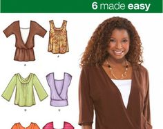 Plus Size TUNIC TOP Sewing Pattern Peasant Boho by patterns4you