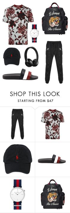 """""""street meets high fashion"""" by thebestkeptsecret on Polyvore featuring Versus, McQ by Alexander McQueen, Polo Ralph Lauren, Moncler, Gucci, Beats by Dr. Dre, men's fashion and menswear"""
