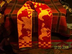 Ravelry: Duel Sided Horse Scarf free pattern by Miranda Stanbery