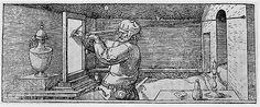 Jakob Keser (sec. XVI) Il visore Ricostruzione (da A. Dürer, Underweysung der messung, 1538); legno di noce Firenze, Istituto e Museo di Storia della Scienza