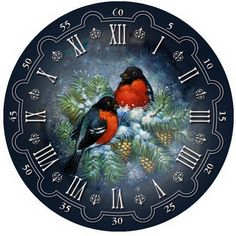 Cheap painting cross stitch, Buy Quality diamond mosaic directly from China diamond embroidery Suppliers: Bird clock Full drill diamond embroidery painting cross stitch painting home decor kits diamond mosaic wall paint Paper Clock, Clock Art, Diy Clock, Clock Icon, Christmas Clock, Diy And Crafts, Paper Crafts, Illustration Noel, Cross Paintings