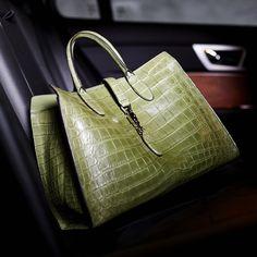 4d873b3284fe Jackie Soft Crocodile Top Handle Bag Soft Leather Handbags, Leather Bag,  Handbags On Sale