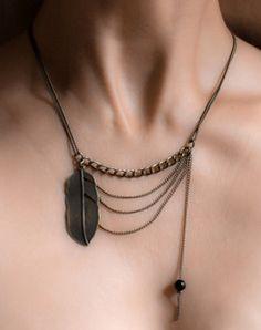Collier Plum • Bronze • Perle noire  Marcel Bonnet