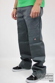 Hip Hop Fashion, Men's Fashion, Dickies Clothing, Dickie Work Pants, Baggy, Denim Jacket Men, Work Clothes, Dark Grey, Parachute Pants