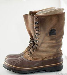 winter duck boot for women | SALE - Vintage Sorel Boots Duck Boots Winter Boots Brown Mens 12