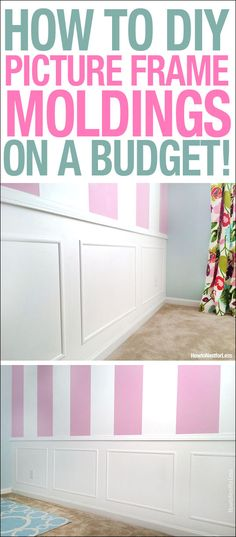 How to DIY picture frame moldings on a budget! - I see Kasondras room looking something like this