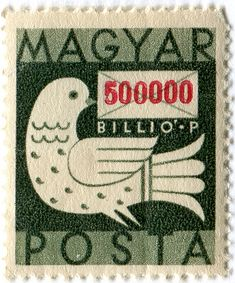 bird - hungarian postage stamp