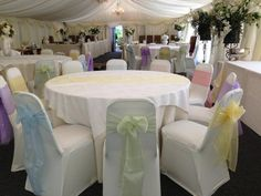Pastel coloured organza sashes & runners x