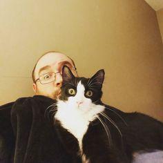 Evening snuggles... #MetroTheAmazingCat #catsofinstagram #kittensofinstagram #kitten #rescuecat #aww #lovebug #cute