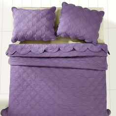 Amelia Purple Orchid Luxury King Quilt Set Antique Vintage Cathedral Scalloped   eBay