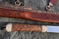 Throvaldr's Seax. Carving details