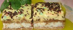 Recept Kokosové řezy se žloutkovým krémem Nutella, Tiramisu, Quiche, French Toast, Cheesecake, Breakfast, Sweet, Ethnic Recipes, Desserts