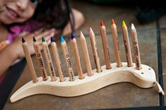 snake pencil holder from Nova Natural Toys - could a simpler version pretty…