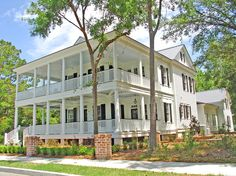 This waterfront home in the coastal town of Habersham offers dual porches and a master suite with sweeping views of the sea islands and the Broad River. Be the first family to live in this new Southern dream home at 46 River Place in Beaufort, South Carolina. More at HabershamSC.com