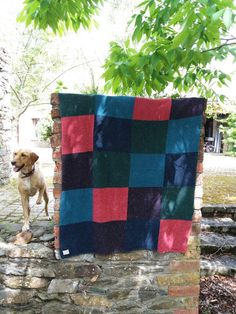 Von the dog and merino wool patch work blanket. #liadainaikenknitwear