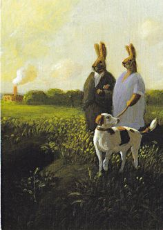 michael sowa --- from the book Esterhazy Michael Sowa, Art And Illustration, Bunny Painting, Conceptual Drawing, Surrealism Painting, Rabbit Art, Bunny Art, Whimsical Art, Surreal Art