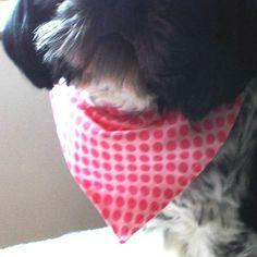 Pet Bandana, Pets Scarf, dog Collar, Cat Bandanas, Dogs Clothing, doggie Clothing, medium size pink accessory, Handmade fabric gift,