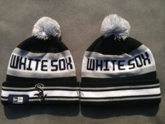 Chicago White Sox New Era Logo Stitched Knit Beanies 002 4133ea9d9cfd