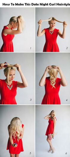 How To Make This Date Night Curl Hairstyle | Adorable Hairstyles