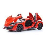 Mallya 1:32 Scale Red Lykan Hypersport Diecast Model Car Replica Collection New