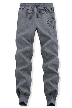 09159290e61 Chrome Hearts Horseshoe Cotton Pants Grey Logo Printed Online Store