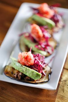 Eggplant and Mushrooms Mini Tacos (Vegan, Paleo, Gluten Free) - The Chubby Vegetarian