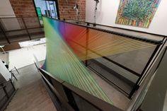 plexus c3 + site specific installation for dallas art fair + gütermann thread, powder coated metal + 30' x 16' x 22' + 2012