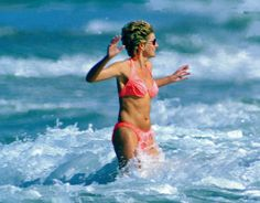 Diana, The Princess of Wales On Holiday In Saint Kitts And Nevis