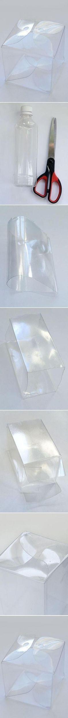 Comment faire une boite parfaitement carrée à partir d'une bouteille ronde! - Trucs et Astuces - Trucs et Bricolages