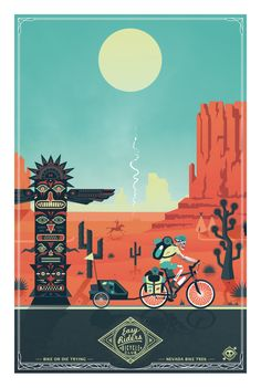 "French graphic designer Ladislas Chachignot has a passion for travel, biking and illustration. The Aix-en-Provence-based artist has combined all three in his crazy cool project ""Easy Rider"". He created the series of illustrations set in eight locations around the world … Continue reading →"
