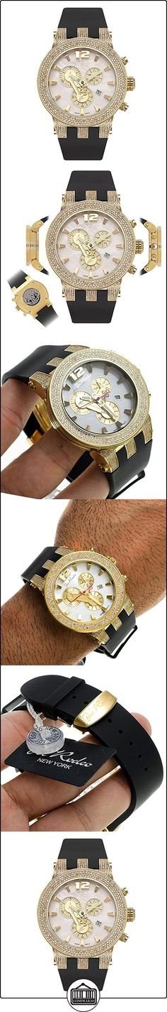 JOE RODEO Diamond Reloj para hombre-Broadway Oro 5quilates  ✿ Relojes para hombre - (Lujo) ✿