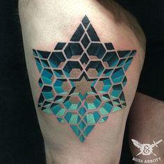 Wicked cool geometric star tattoo- Russ Abbott