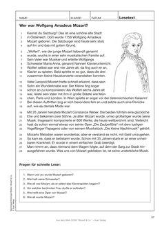 Was weißt du über Wolfgang Amadeus Mozart?  #lesetext #mozart #wolfgangamadeusmozart #auerverlag #musik #musikunterricht #klassik #klassischemusik #leser #lesen #grundschule #volksschule #musikschule #leseförderung #teachersofpinterest #futureteacher #lehrprobe