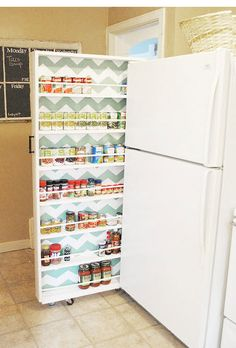 Slide-Out Kitchen Storage- great for a small space