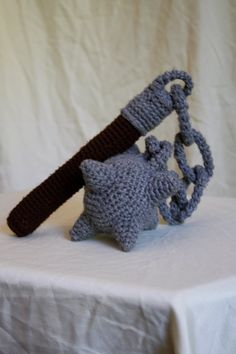 Morning Star, Chain Mace, Flail by Jenessa Rogers Crochet For Boys, Crochet Baby, Free Crochet, Knit Crochet, Funny Crochet, Crochet Toys Patterns, Stuffed Toys Patterns, Crochet Dolls, Knitting Patterns
