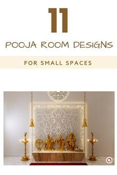 Mandir design for a small flat