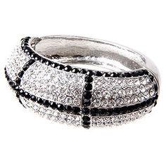 Black and Crystal Bling Bracelet