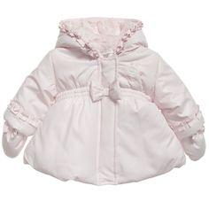 Absorba baby girls pale pink padded coat - t/m 24 maanden