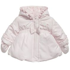 Absorba baby girls pale pink padded coat - t/m 24 maanden