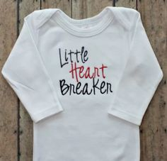 Baby Boys or Girls Valentines Day Bodysuit - Little Heart Breaker - Red and  Black Boutique Baby Clothing - Wholesale - Baby Shower Gifts 27c29687e