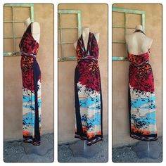 Vintage 1970s Halter Dress Paganne Gene Berk B36 W29 US10 2014436 - pinned by pin4etsy.com