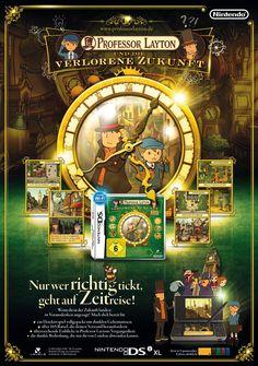 Poster Prof. Layton 3 von Nintendo