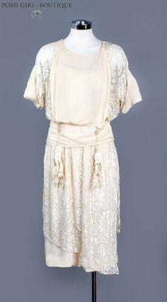 Антикварная 1920s слоновая кость закрытое платье шелковое кружевное белое свадебное платье винтаж | Одежда, обувь и аксессуары, Винтаж, Винтажная одежда для женщин | eBay!