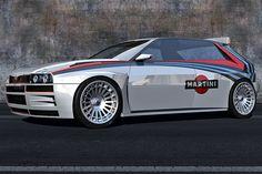 Lancia Delta HF Integrale Concept: 3D-Rendering 2015