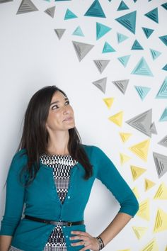 a geometric photobooth diy you have to check out from They So Loved Events http://www.weddingchicks.com/2014/02/08/3-d-triangle-backdrop-diy-from-they-so-loved-events/