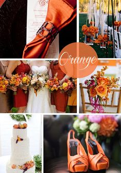 Orange fall wedding inspiration.